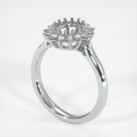 14K White Gold Ring Setting - JS972W14