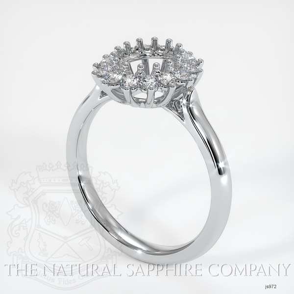 14 Prong Antique Halo Ring Setting JS972 Image
