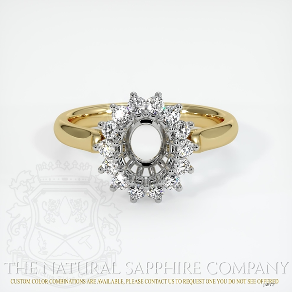 14 Prong Antique Halo Ring Setting JS972 Image 2