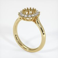 14K Yellow Gold Ring Setting - JS972Y14