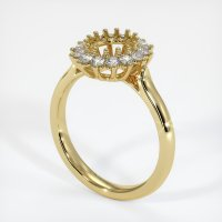 18K Yellow Gold Ring Setting - JS972Y18