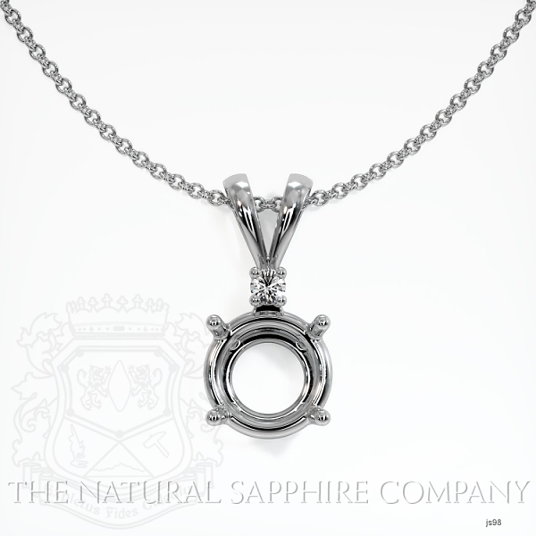 4 Prong With Diamond Pendant Setting JS98 Image