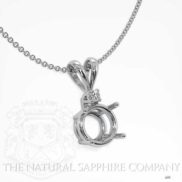 4 Prong With Diamond Pendant Setting JS98 Image 2