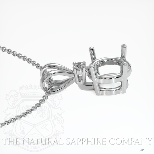 4 Prong With Diamond Pendant Setting JS98 Image 3