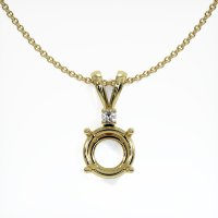 18K Yellow Gold Pendant Setting - JS98Y18