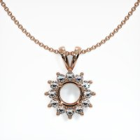 14K Rose Gold Pendant Setting - JS99R14