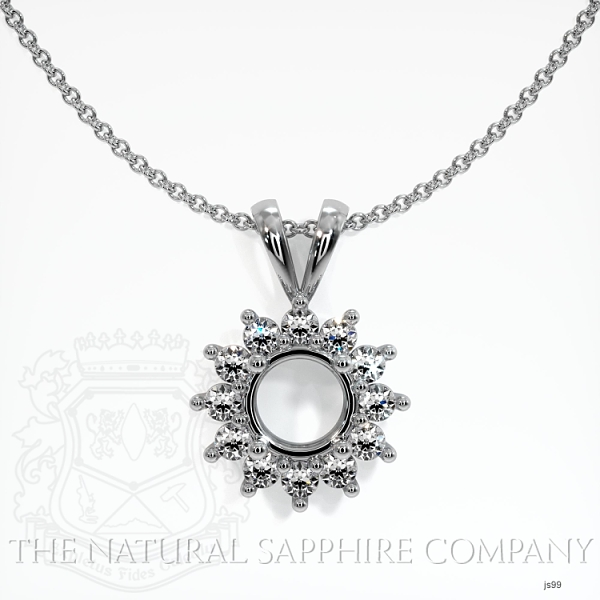 4 Prong Diamond Halo Pendant Setting JS99 Image