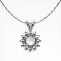 14K White Gold Pendant Setting - JS99W14