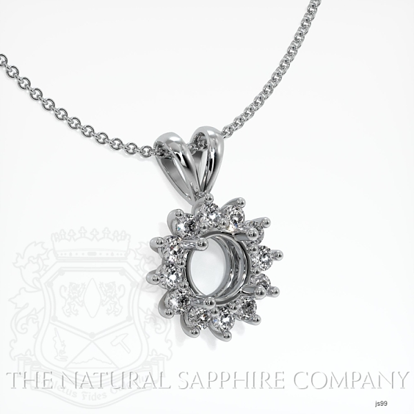 4 Prong Diamond Halo Pendant Setting JS99 Image 2