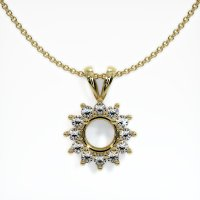 18K Yellow Gold Pendant Setting - JS99Y18