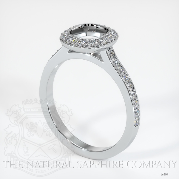 Bezel Set Pave Diamond Halo Ring Setting JS994 Image
