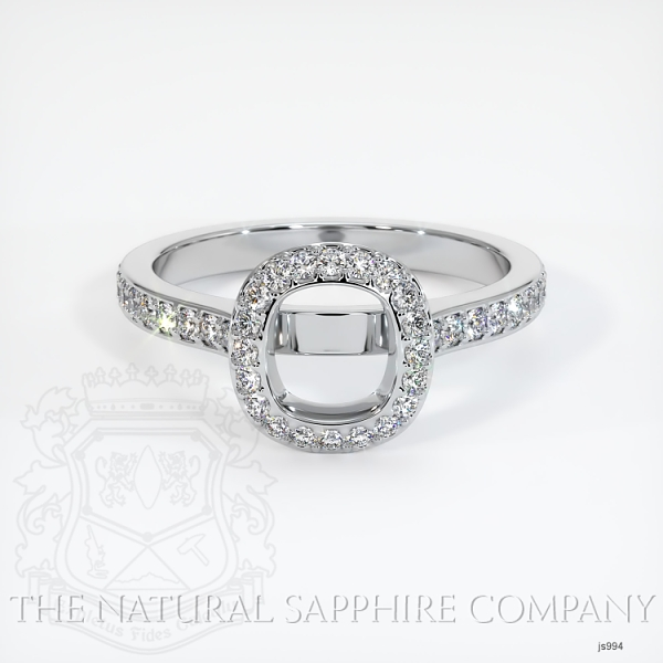 Bezel Set Pave Diamond Halo Ring Setting JS994 Image 2