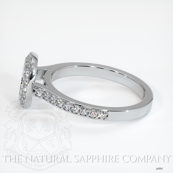 Bezel Set Pave Diamond Halo Ring Setting JS994 Image 3