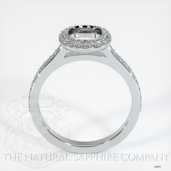 Bezel Set Pave Diamond Halo Ring Setting JS994 Image 4