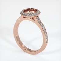 14K Rose Gold Pave Diamond Ring Setting - JS994R14