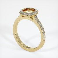 14K Yellow Gold Pave Diamond Ring Setting - JS994Y14
