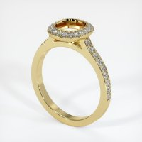 18K Yellow Gold Pave Diamond Ring Setting - JS994Y18