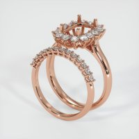 14K Rose Gold Ring Setting - JS998R14