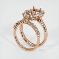 18K Rose Gold Ring Setting - JS998R18