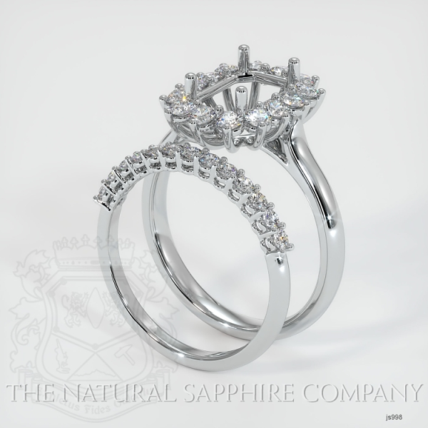 4 Prong Halo Wedding Set JS998 Image