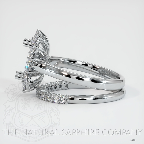 4 Prong Halo Wedding Set JS998 Image 3