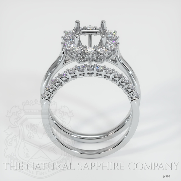 4 Prong Halo Wedding Set JS998 Image 4