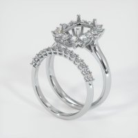 18K White Gold Ring Setting - JS998W18