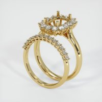 14K Yellow Gold Ring Setting - JS998Y14