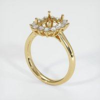 14K Yellow Gold Ring Setting - JS999Y14