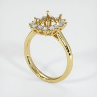 18K Yellow Gold Ring Setting - JS999Y18